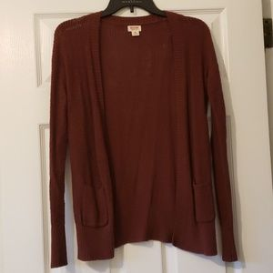 Mossimo Red Knit Cardigan